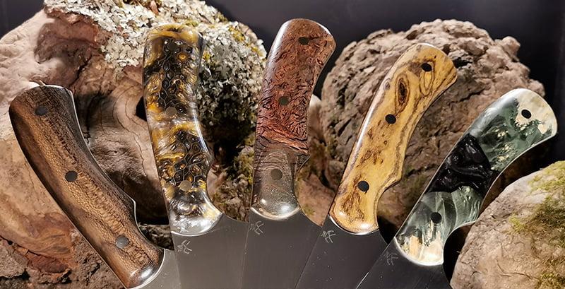 Manches de couteaux réalisées par Hellrazorblades